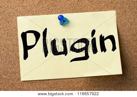 Plugin - Adhesive Label Pinned On Bulletin Board