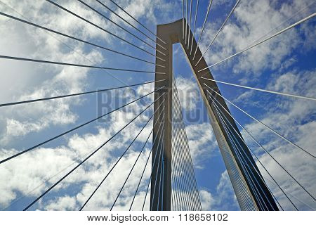 Suspension bridge abstract