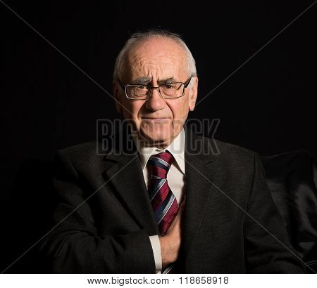 Old Sick Businessman