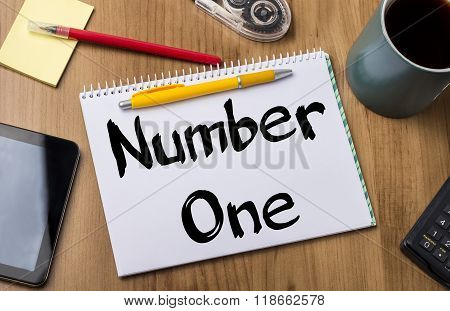Number One - Note Pad With Text