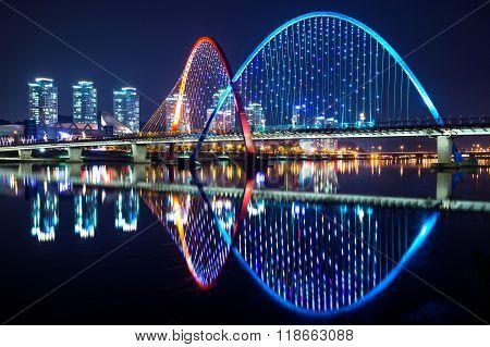 Expo Bridge In Daejeon, South Korea.