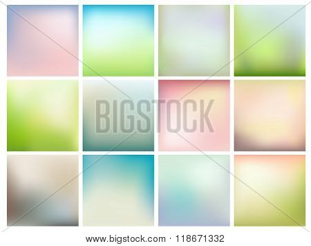 Background With Soft Spring Colors