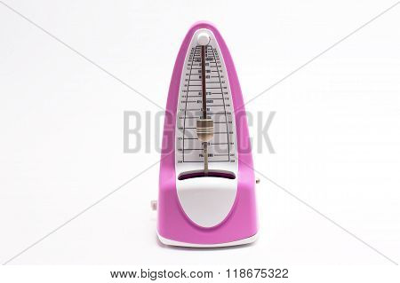 Pink Modern Metronome Isolated