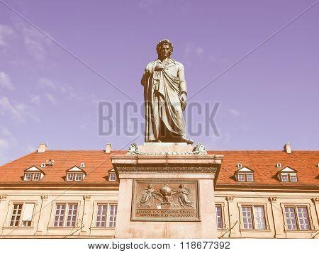 Schiller Statue, Stuttgart Vintage