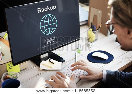 Backup Data Storage Restore Safety Security Concept