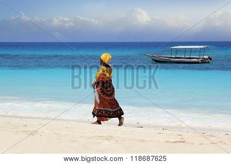 African Woman In Traditional Dress