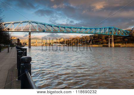 Metro Bridge Over The Tyne