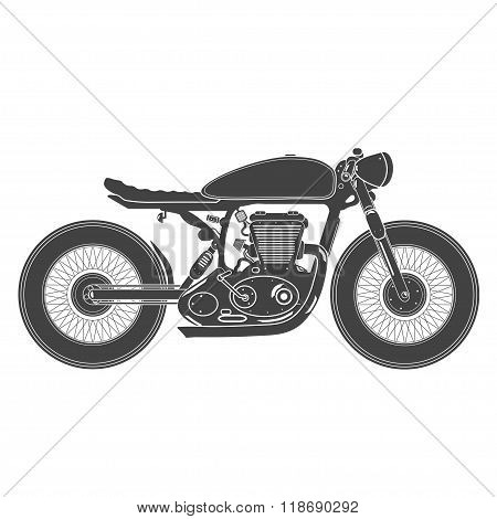 vintage motorcycle. cafe racer theme