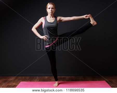 Extended Hand To Toe Pose. Yoga