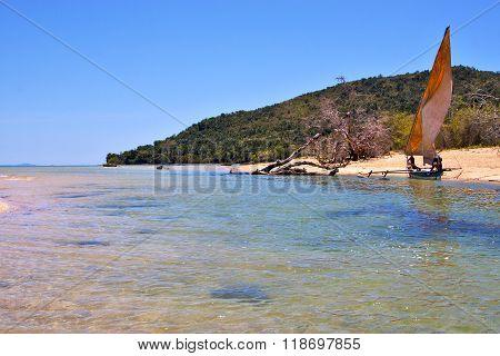 Nosy Be Isthmus Isle  And Coastline  Madagascar