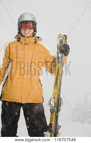 Portrait of a skier