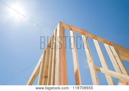 Framework of a house