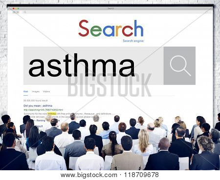 Asthma Allergy Bronchial Breathing Concept
