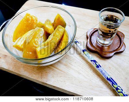 Sweet potato thai dessert