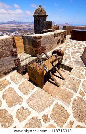 Winch House  Castillo De Las Coloradas  Lanzarote  Spain Old
