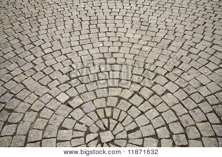 Old Cobble Stone Pavement