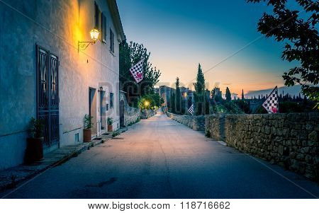 San Quirico D'orcia By Night, Tuscany