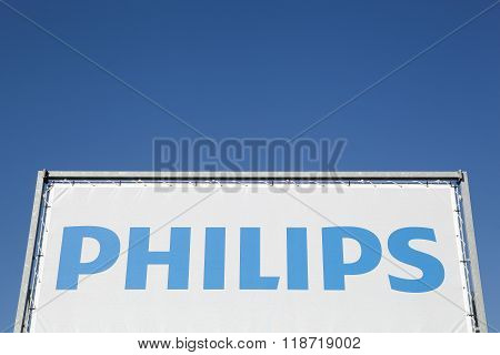 Philips sign on a banner