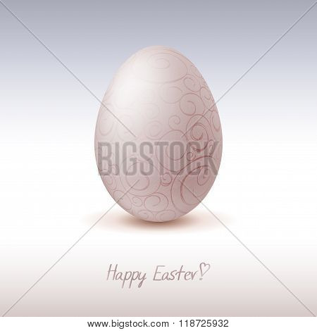 Easter egg, with patterns and inscription