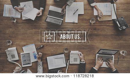 About Us Details Contact Data Info Communication Concept