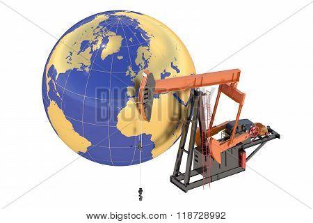 Pumpjack With Globe