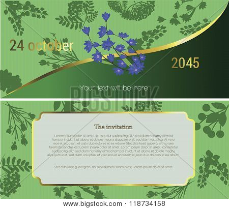 Invitation to the flower market
