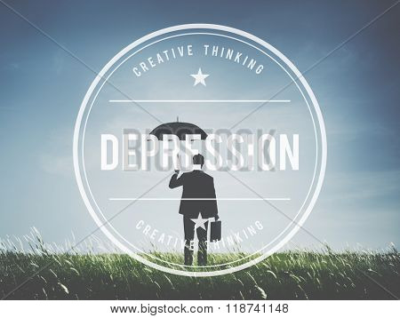 Depression Downturn Decline Recession Crisis Concept
