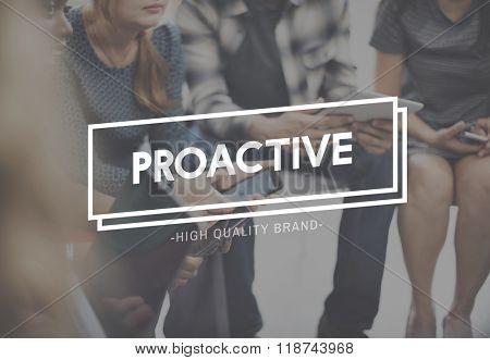 Proactive Action Skills Dynamic Enterprising Concept