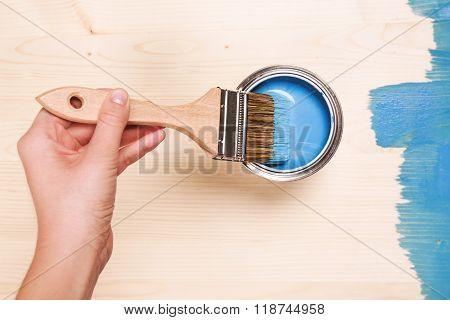 Smear of paint brush