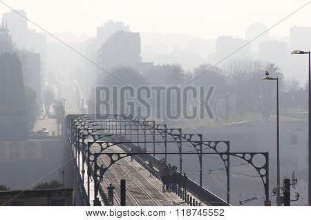 bridge, brig, causeway, infinite, endless, boundless, infinitive, ilimitable, mist, fog, haze, cloud