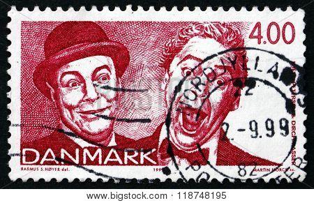 Postage Stamp Denmark 1999 Comedians And Singers