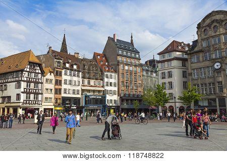 Place Kleber, The Central Square Of Strasbourg, France