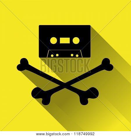 Tape Cassette With Crossbones