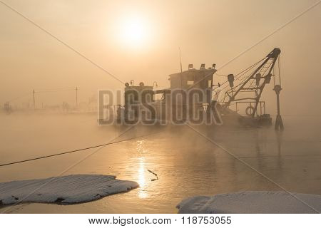 Ship in the fog