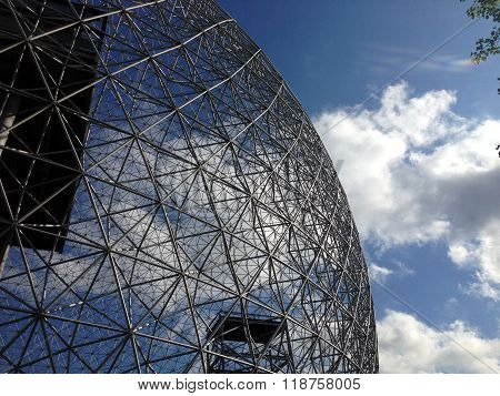 MONTREAL, QUEBEC -- MAY 29, 2015 -- The Biosphere, a structure designed by R Buckminster Fuller in 1967, boasts itself the only museum in North America dedicated to the environment, meteorology, climate, water and air quality.
