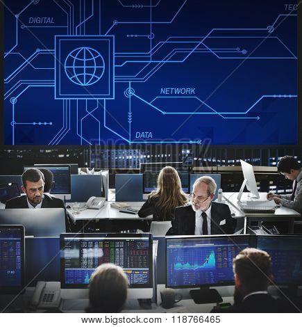 Digital Data Computer Technology Electronic Concept