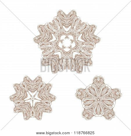 Floral elements mehandi set