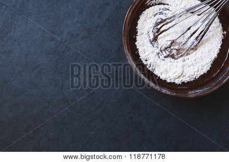 Chocolate dough with corolla