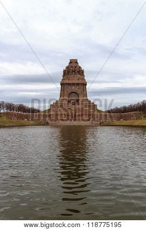 Monument to the Battle of the Nations (Volkerschlachtdenkmal) with sea of tears