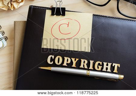 Copyright Document Folder And Desk Office