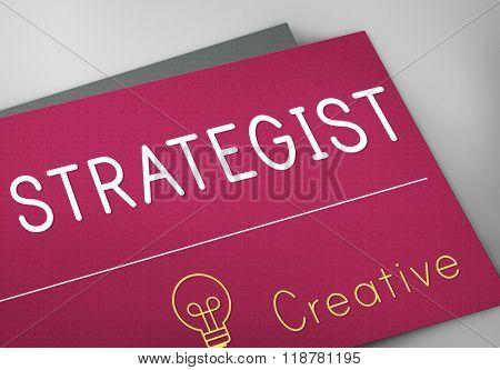 Strategies Strategist Strategic Tactics Vision Concept