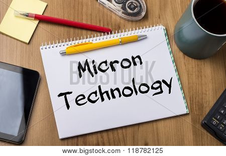 Micron Technology - Note Pad With Text