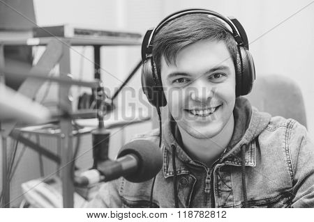 Man Portrait Radio Dj