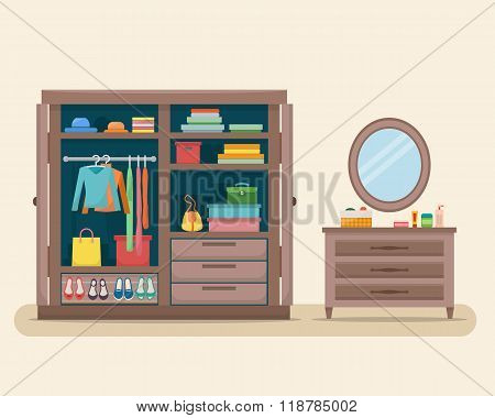 Wardrobe for cloths