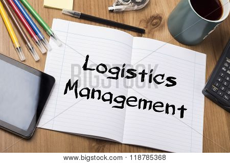 Logistics Management - Note Pad With Text