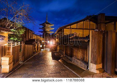 Japanese Old Town And Yasaka Pagoda In Kyoto