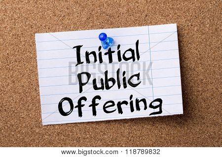 initial public offerings paper In order for a company to build their business, many pursue to either merge with another company or acquisitions from another company another option a company should consider when building their business is to make an initial public offering.