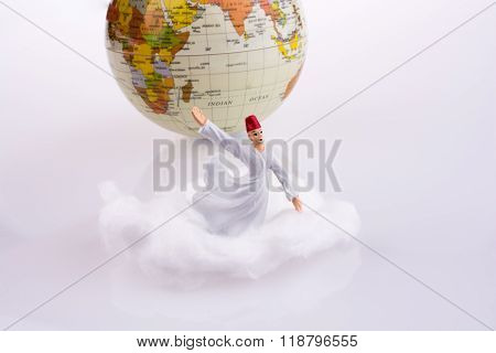 Dervi? On A Cloud Near Globe
