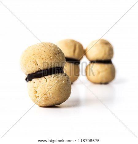 Italian Cookies Called Baci Di Dama Made With Nuts