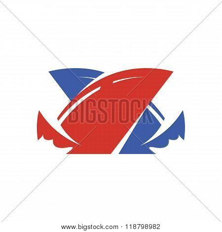 Yacht logo illustration